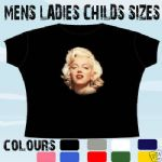 MARILYN MONROE T-SHIRT ALL SIZES & COLOURS